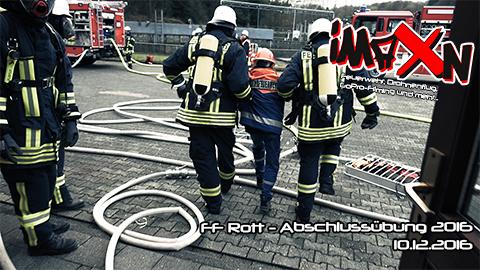 Abschlussübung der Löschgruppe Rott 2016